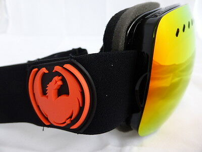Dragon APXS Frameless Snow Goggles Jet / Red Ionized + Yellow Blue Ion Lens