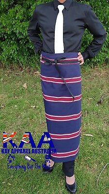 Butchers Apron Waist Navy/Red 85x80cm *MADE IN KINGAROY QLD* Butchers Chefs