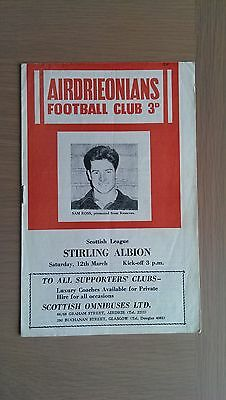 Airdrieonians V Stirling Albion 1959-60
