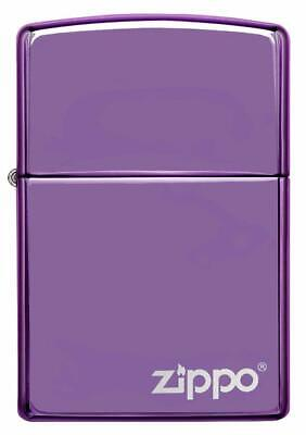"""Personalised Collectable Zippo Lighter,""""Abyss purple finish""""  engraved free"""