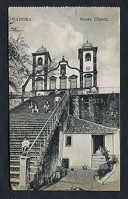 C1920's View of People Sitting Outside Monte Chruch, Madeira