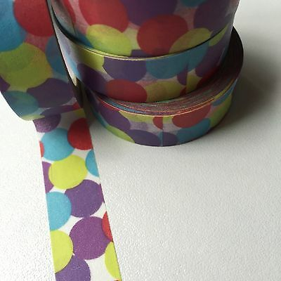 Washi Tape Lavender Multi Spot 15Mm X 10Mtr Planner Scrap Craft Wrap Mail Art