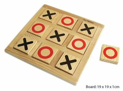 NEW Fun Factory Wooden Noughts and Crosses X O Tic Tac Toe Game Educational Toy
