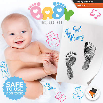 QUALITY INKLESS WIPE HAND & FOOT PRINT KIT BABY & NEWBORN SAFE NEW GREAT GIFT c