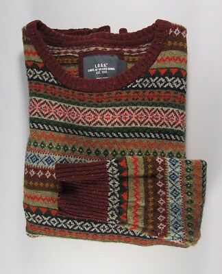VTG McGregor Sweater Wool Blend Crewneck FAIR ISLE Striped Multi ...
