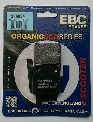 Peugeot Sum Up 125 (2008 to 2011) EBC Organic FRONT Disc Brake Pads (SFA54)