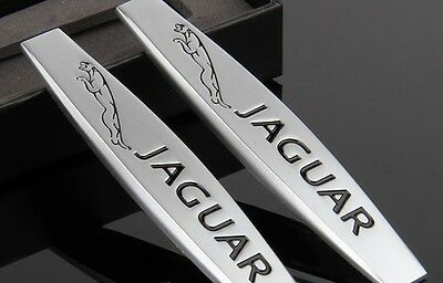 2 x  3D Trunk Rear Emblem Badge Decal Logo Car Auto for JAGUAR