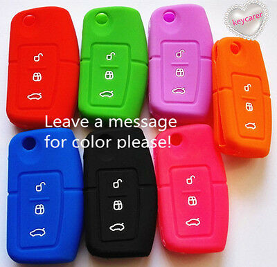 Silicone Ford Flip Car Key Cover Case Fiesta Focus Mondeo Xr6 Territory Falcon