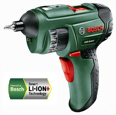New Bosch 3.6V 1.5Ah Li-Ion PSR Select Cordless Screwdriver Power Tool
