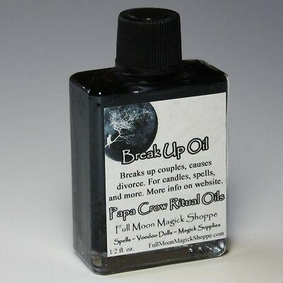Break Up Oil Anoint Candles Use Spells Wicca Voodoo Full Moon Curse Magic