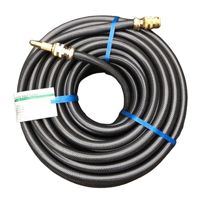 "Garden Water Hose 30M Durable 18MM - 3/4"" ZORRO Brass Fittings 8/10 KinkFree"