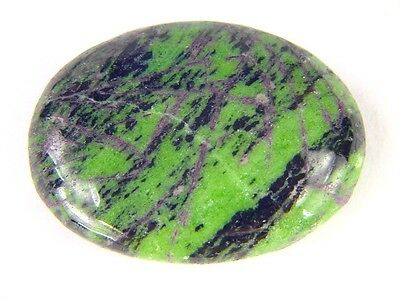 BUTW Ruby in Zoisite Massage Palm Worry Pocket Healing Stone with bag 7179K