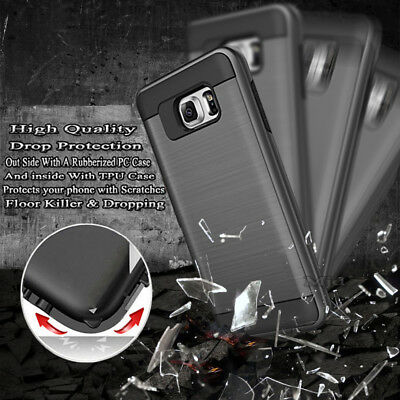 Slim Hard Armor Case Cover + Screen Protector For Samsung Galaxy