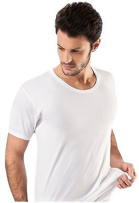 Quality Men's 100% Cotton Crew Rounded Neck Undershirt Short Sleeve Branded