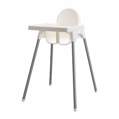 Ikea White Antilop Highchair With Safety Straps & Matching Tray( Fast Dispatch )