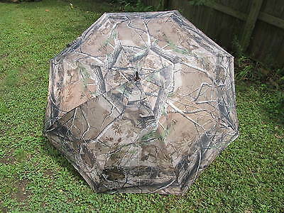 Realtree Camouflage 68 inch golf umbrella training aid sit down blind