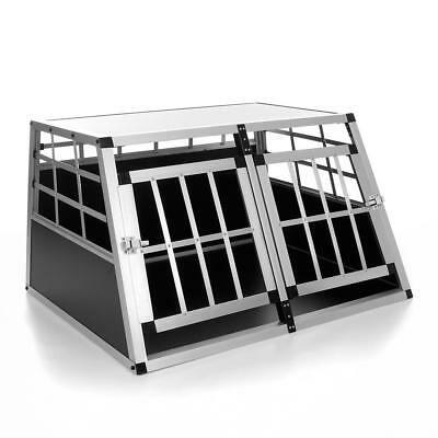 Alubox Transportbox Hundetransportbox Transportkäfig Käfig Kennel Hundekäfig