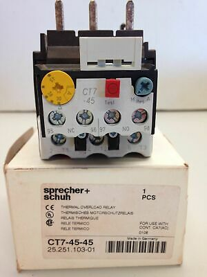 Sprecher + Schuh CT7-45-45 Thermal Overload Relay 30-45A