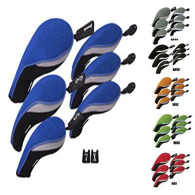 Golf Hybrid Club Headcovers Driver Set Interchangeable (3 Hybrid +3 Wood Cover)