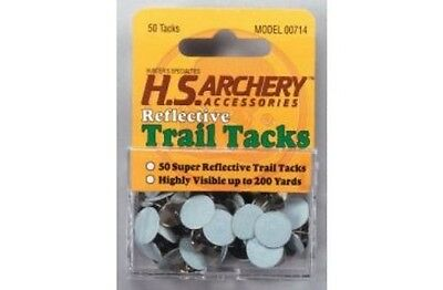New Authentic Hunters Specialties Reflective 50 Per Pack White Trail Tacks 714