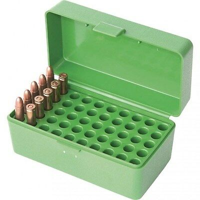 New Authentic MTM Ammo Box 50 Round Flip-Top 22 Hornet Green 22HORN10