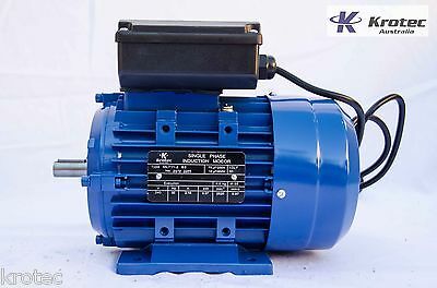 Electric motor single-phase 240v 0.37kw 1/2hp 2820rpm