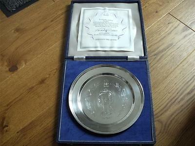 SUPERB SOLID SILVER ROYAL JUBILEE ANNIVERSARY PLATE London 1977