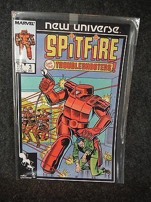 Marvel Comic Book Spitfire and The Troubleshooters 3 December 1986 Near Mint