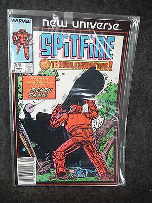 Marvel Comic Book Spitfire and The Troubleshooters November  1986 Near Mint