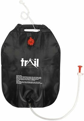Trail Outdoor 20 Litre Solar Camping Shower - Black