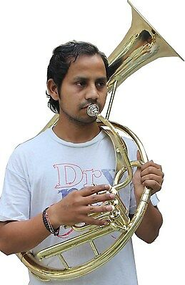 """Sousaphone (Helicon) 10"""" Bell Bb 3 V Shinning Brass+Bag M/Piece Fast Ship"""
