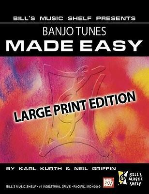 Banjo Tunes Made Easy, Large Print Edition