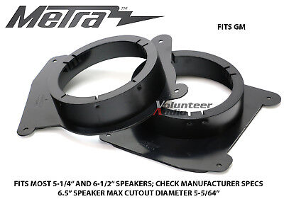 "Metra 82-3043 6.5"" Speaker Mount Adapters For Select GM Vehicle Models"