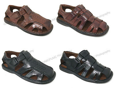 Men's Fisherman Sandals Closed Toe Adjustable Buckle Casual Slippers Shoes Sizes