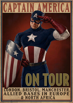 Sticker Autocollant Poster A4 Film Captain America-Avengers.the First Avenger 3.