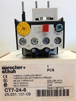 Sprecher+Schuh  CT7-24-6 Thermal Overload Relay 25.251.101-09 suit Cont. CA7 AC