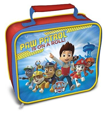 Paw Patrol | Dogs | Chase | Rubble | Marshall | Red Insulated Lunch | School Bag