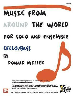 Music From Around The World For Solo & Ensemble, Cello-Bass