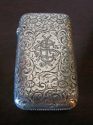 Antique Wood & Chatellier Sterling Silver Match Safe Monogrammed