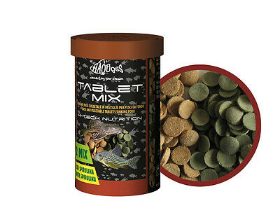 Haquoss Tablet Mix 100Ml/44Gr Mangime Acquario Pesce Da Fondo Pastiglie