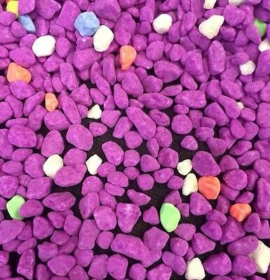 Fish Tank Gravel 2kg Fluorescent Purple Mix Aquarium Gravel Bright