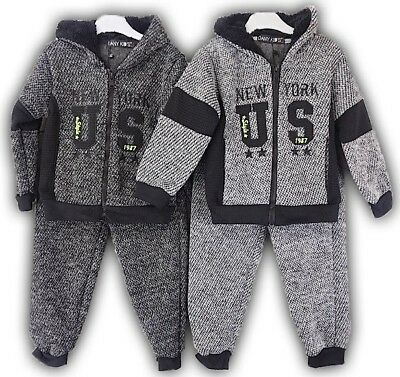Kids Girls Boys Tracksuit Hooded Hoodie Bottom Jogging Suit Joggers 6-36 Months