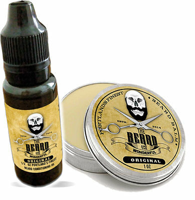 The Beard & The Wonderful, Portland Beard conditioning Set.15ml Oil + 30ml Balm
