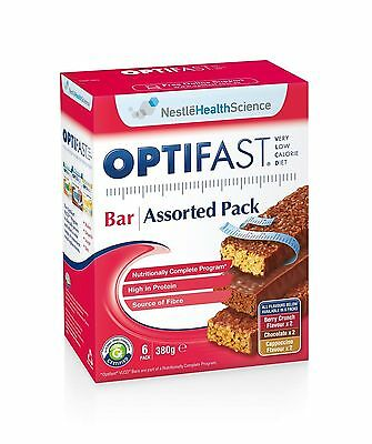 Optifast Vlcd Assorted Bars 6 Pack 380G