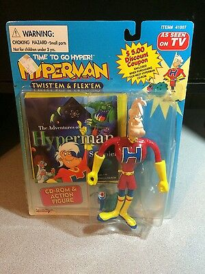 Hyperman CD-Rom Game Sampler & Action Figure by Street Players and Illumina 1995