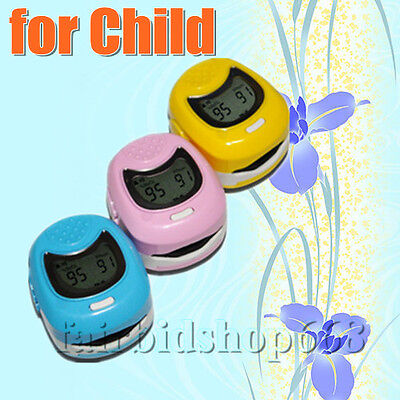 Fingertip finger pulse oximeter for child kids children LCD display screen