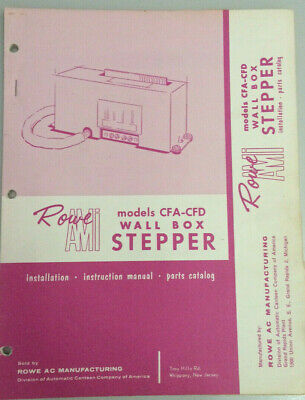 Jukebox Manual - Rowe Ami Model Cfa-Cfd Wall Box Stepper - Install-Parts-Catalog