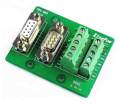 DB9 DB9-MG6 Male / Female Header Breakout Board Terminal Block