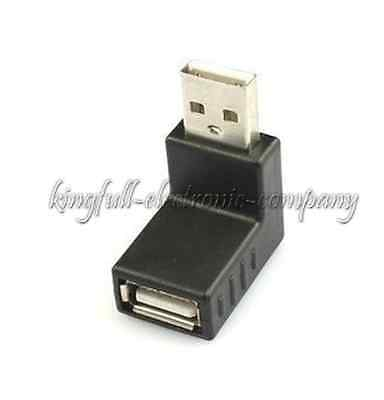 2PCS 90 Degree Angle USB Male To USB Female Elbow Adapters