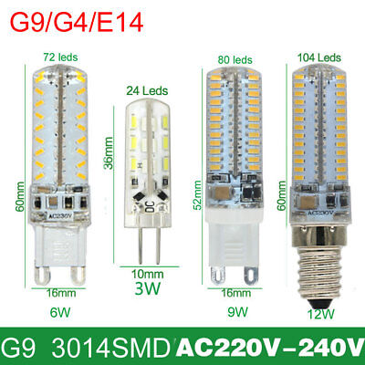 Dimmable LED Corn Bulb G9 E14 G4 8W 9W 10W 3014 SMD Light Replace Halogen Lamp